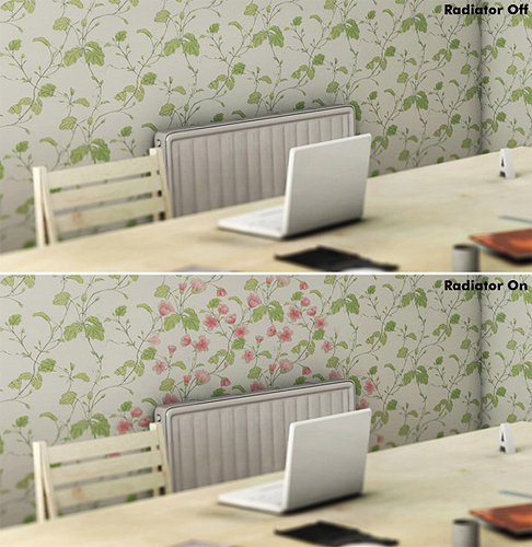 Cool.  nath: Heat Sensitive Wallpaper by Shiyuan.  (Thanks somethinglight)