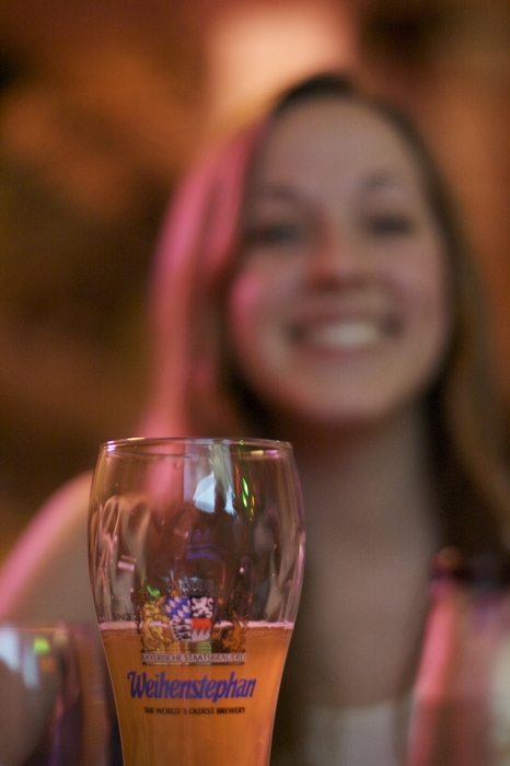From  Marco 's Birthday a few weeks ago. (photo of  Kelly  very happy about her beer from  Hop Devil )