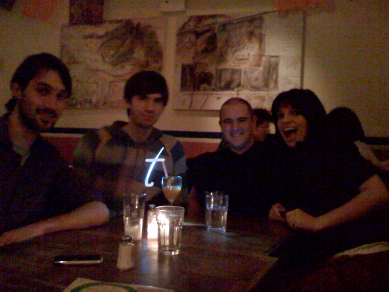 Really great night!  It was awesome meeting you guys.    mareen : Dinner at La Palapa with  Stefan Tüshaus ,  David Karp ,  Marco  &  Tiff Arment .     t for Tumblr.