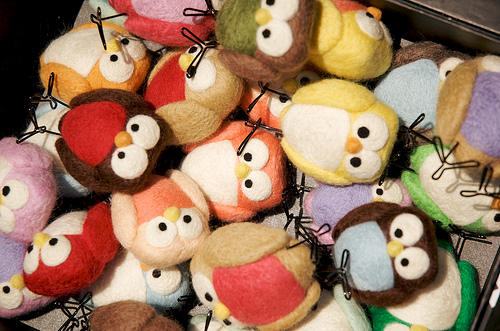 cute felted birds and owls by  Lauren Alane  (Etsy  LaurenAlane )