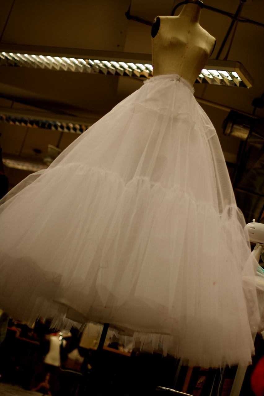 Today I almost finished a super huge petticoat for White Christmas.  I'm really proud of it.