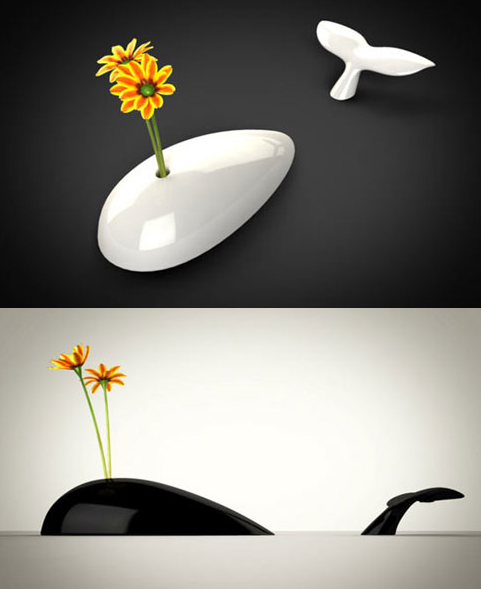 cute    szymon:  two-piece  flower vase  by Alessandro Bêda