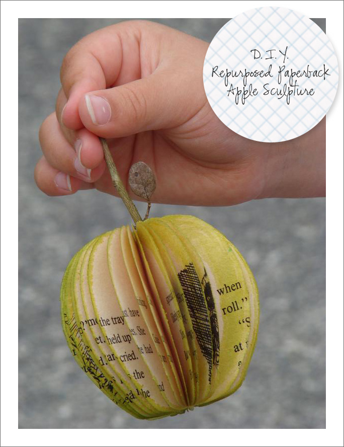 Officially added to the To-Do-List    D.I.Y. Repurposd Paperback Apple Sculpture  (via  craftymeggsy )