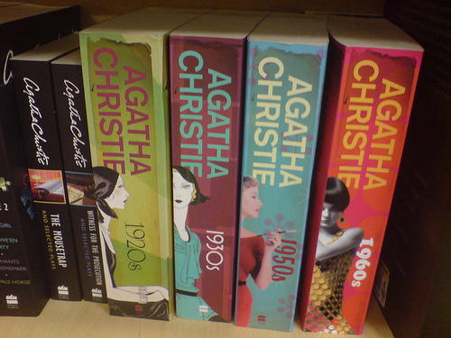 new agatha christie covers   Agatha Christie makes me think of my grandmother.  These are a beautiful collection.  Where can find them?  I looked on amazon, without luck.  But as soon as they are there, I am adding them to my wish list.     ( via  deplorableword )