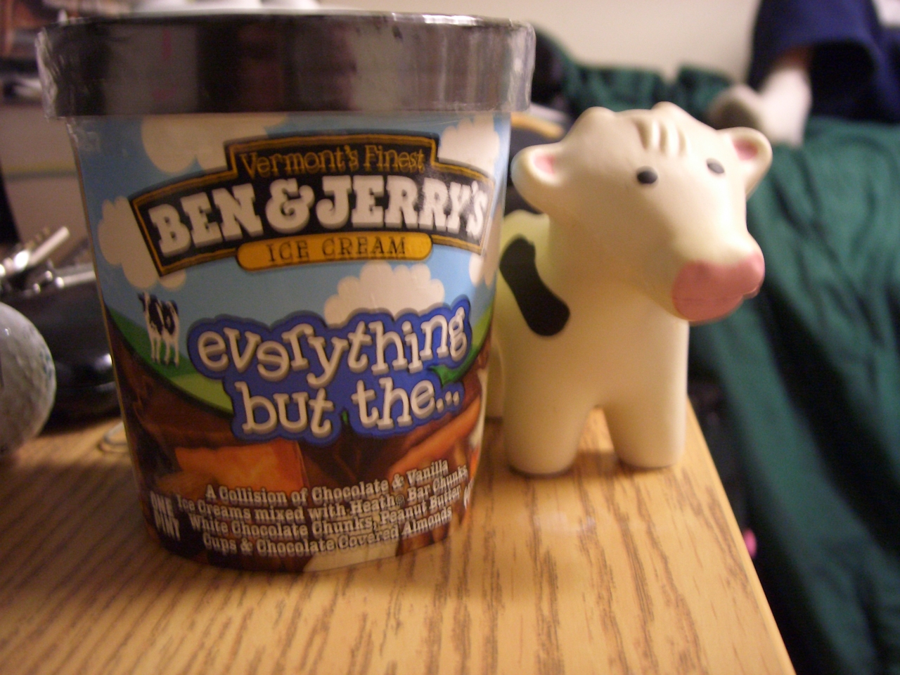 fordf250 :   My School store just got Ben and Jerry's ice cream. I can't wait to partake in this goodness. Plus squishy cow makes it all that better.    Our  squishy  cows  are slowly invading the country.