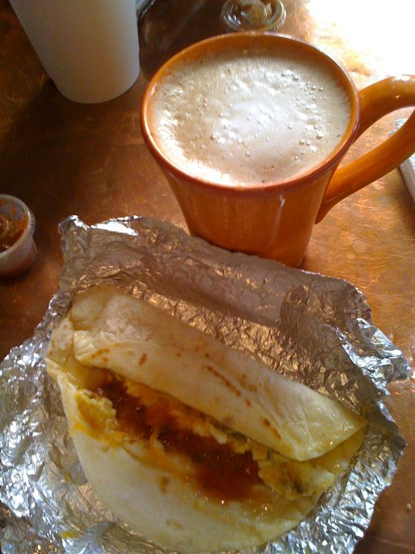 My last Tex-Mex before leaving Austin. Breakfast tacos are things that make me go Mmmmm.