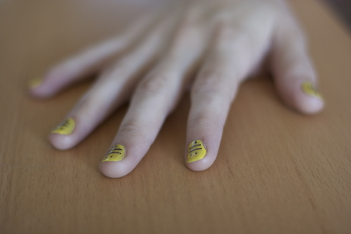 Casey  gave me bee fingers.