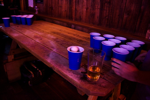 Beer Pong at Whiskey River