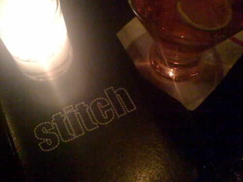 stitch bar in the garment district.  It is as cool as it sounds.