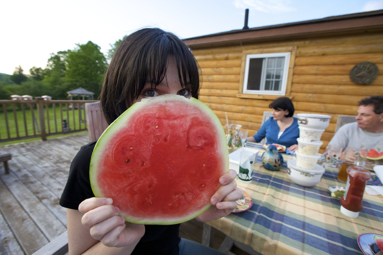 It isn't Memorial Day without a huge piece of watermelon.