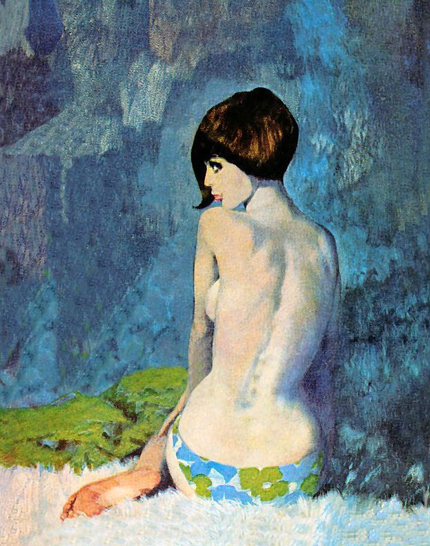I love Robert Mcginnis.  I wish there were more books about him and a collection of his work.  I would love to have a print of this one hanging in our bedroom. (via www.scuffletown.org)