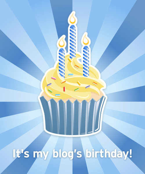 My blog just turned 3!  I just got this cute email.  Thanks Tumblr!  Can you send me a real cupcake? (really, please, Marco send over a cupcake, it's NY- anything can be delivered)   ( My Archive )   My only regret in starting this Tumblr page is not having tiff.tumblr.com. I missed that boat.