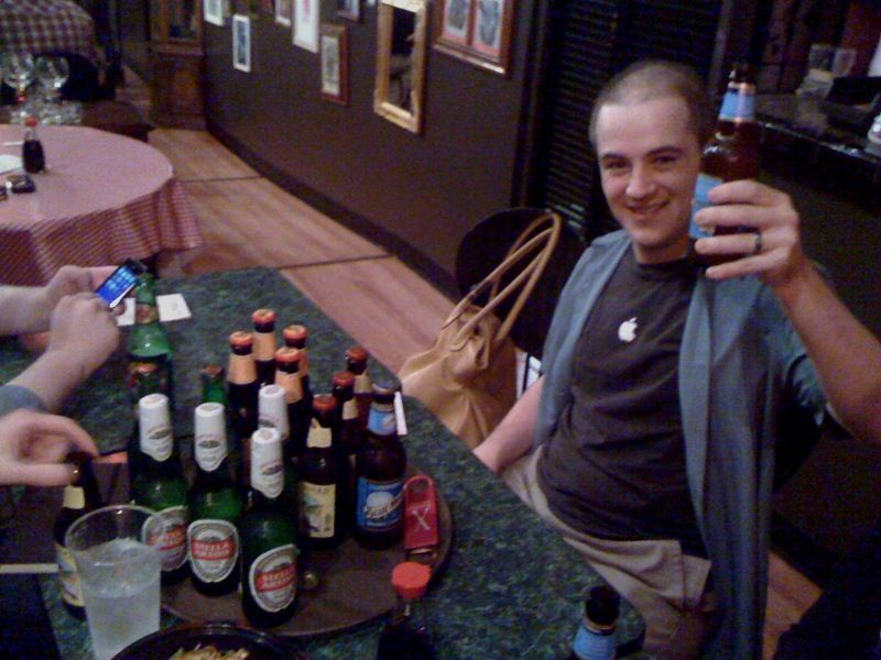 Twenty beers just happened for six tipsy people because someone knew Marco. I love SXSW, thanks Knowmore.com!
