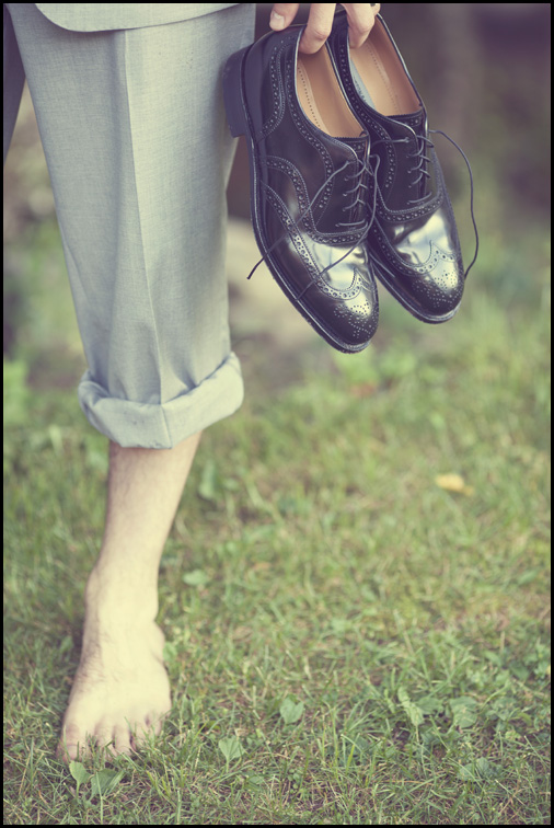 I've neer been so photographically drawn to a man's shoes.