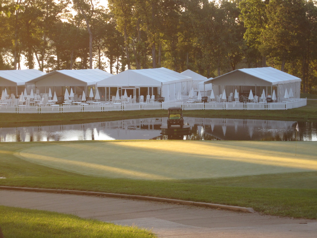 My brother is getting ready to work a PGA tournament tomorrow, the  John Deere Classic  at the beautiful Deere Run course in Illinois. I'm so proud, I wish I could be there. You can watch it live this week on the golf channel and on CBS Saturday and Sunday.   (via  fordf250 )