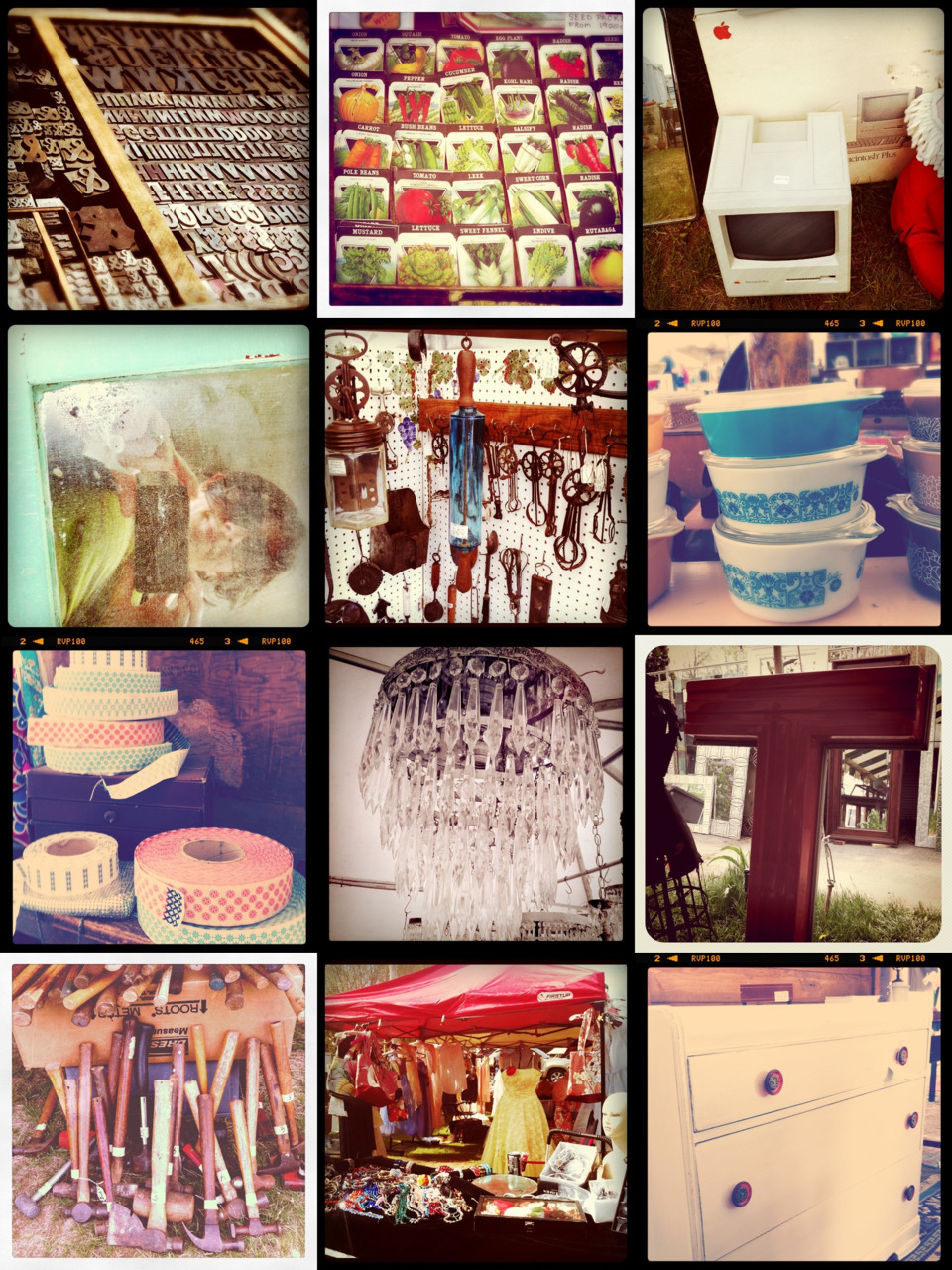 Brimfield Antique Shows , Instagram quick snaps collage   (click for big)