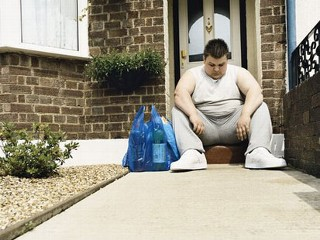 marco :      Study: 'Weight-ism' Is Bigger Than Racism  (via  emilyposts )        … weight discrimination is spiraling upward, and that's a dangerous trend that could add fuel to the obesity epidemic.      The study argues that discrimination against fat people should be illegal, just like discrimination based on race, age, or gender.    Personally, I don't see the connection… being overweight is just as much of a lifestyle and personality decision as smoking, being annoying, or listening to bad music. Sure, it's hard to change it once you're there. But it's not impossible, and it's not the world's fault that you got there in the first place.    People shouldn't be prohibited from thinking negatively of people who are overweight because of their decisions.    (Also, this picture… they couldn't have picked a better representative? Is that a pair of 2-liter soda bottles in that shopping bag?)