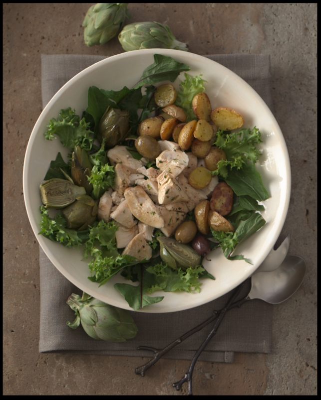 Roasted Baby Artichoke & Potato Salad    (click for the recipe)                                                     photo: Dennis Becker