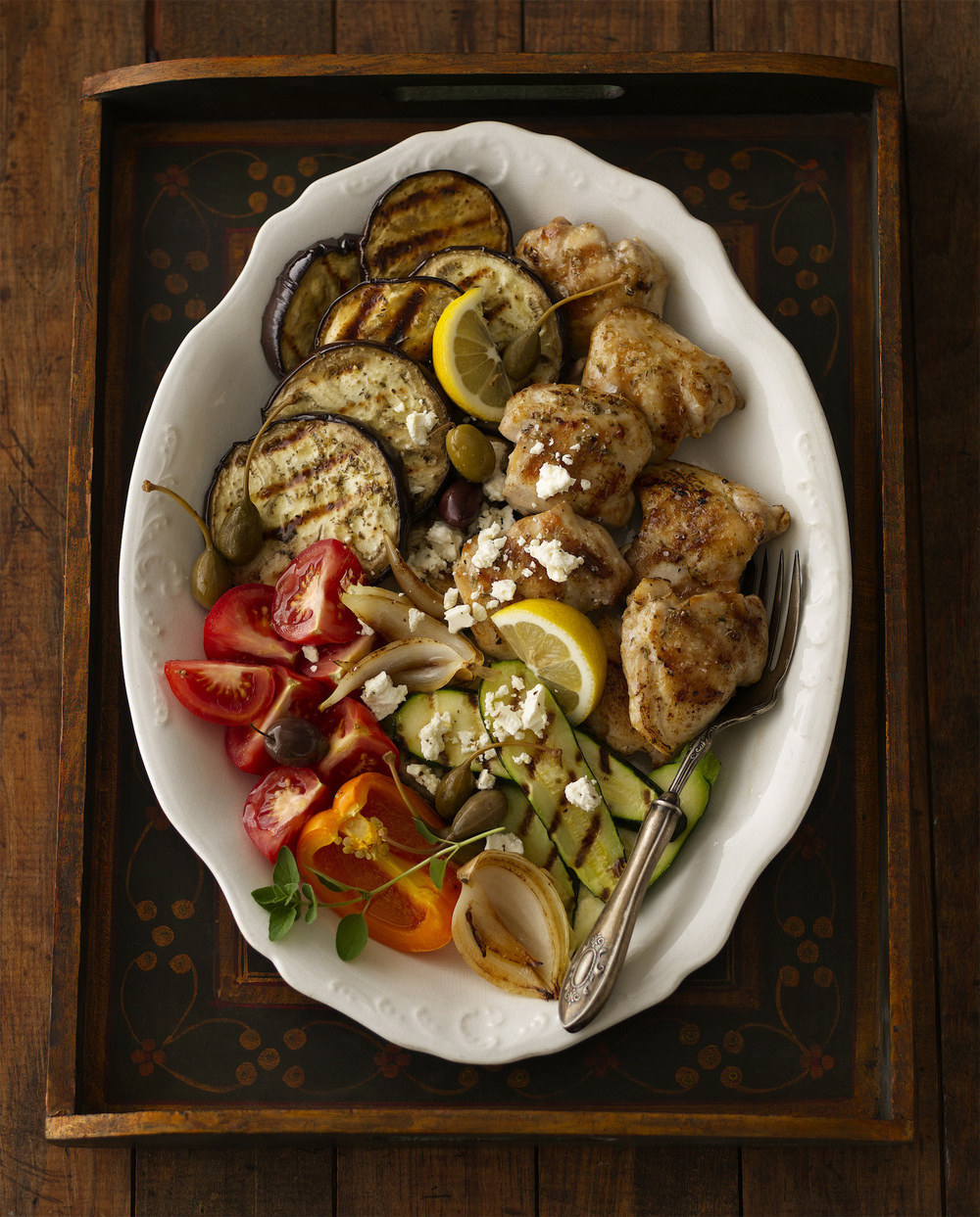 sizzling deconstructed ratatouille platter (click here for recipe)      photo: Dennis Becker