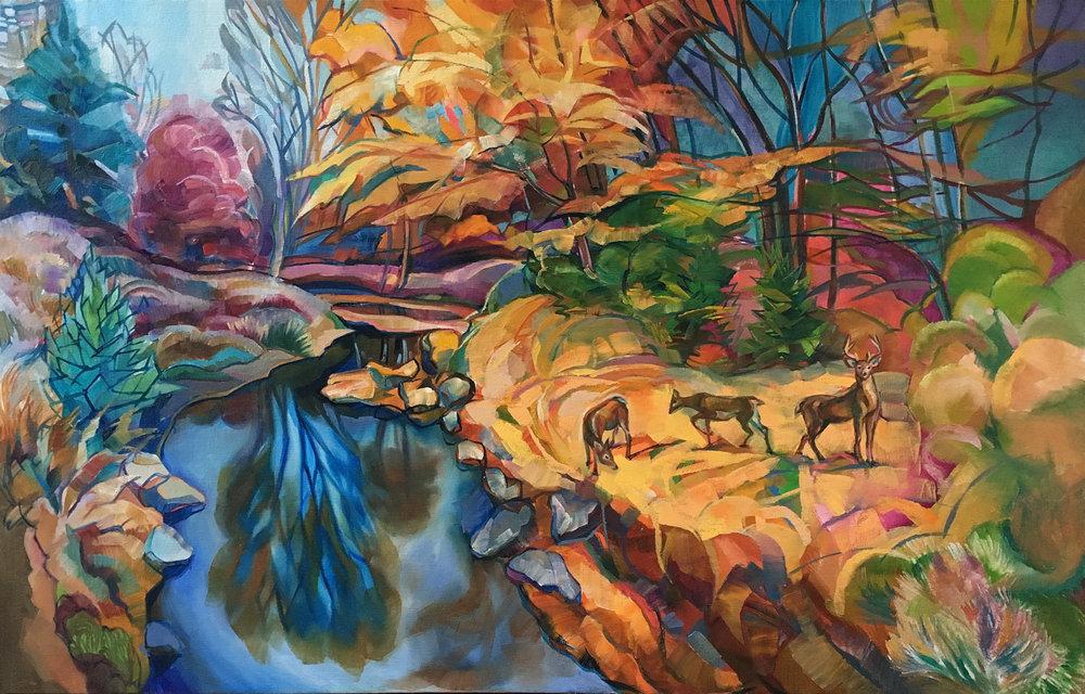 """Deer Guardian"", Oil on canvas, 2016, ® Miron Kiriliv"