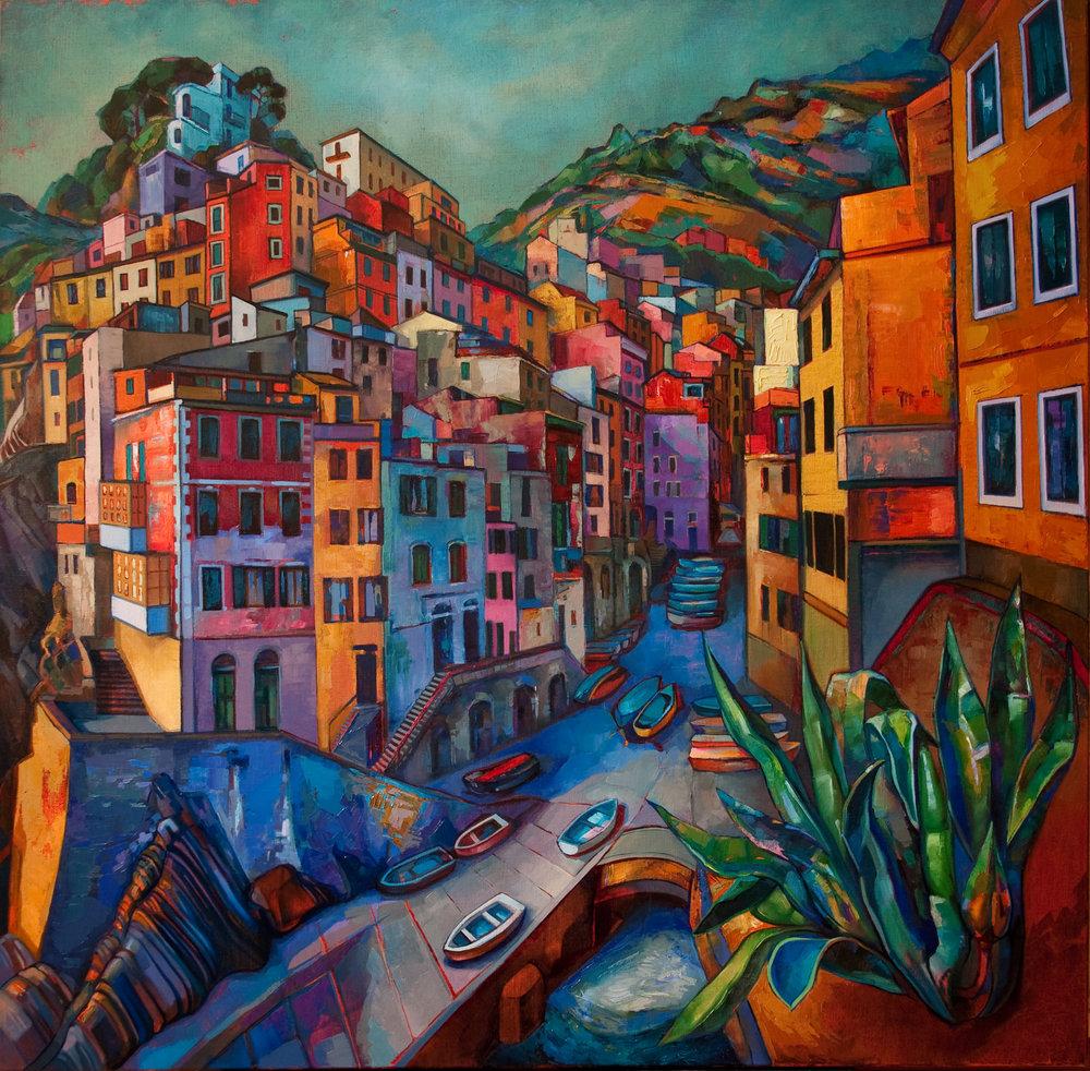 """""""Riomaggiore"""" Oil on canvas, 2013 ®Miron Kiriliv"""