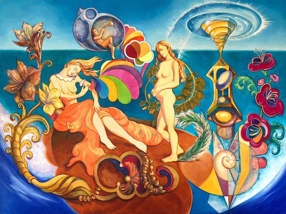 """Boticelli's Dream"" Oil on Canvas, 2015 ®Miron Kiriliv"