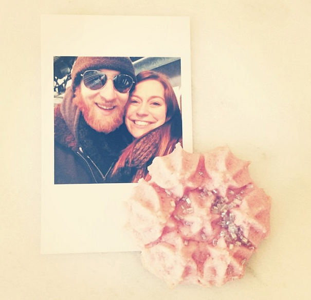 Here's a close up of one of the prinstagram photos and also these adorable pink butter cookies my mom made with a vintage cookie press! (they were sooo delicious.)
