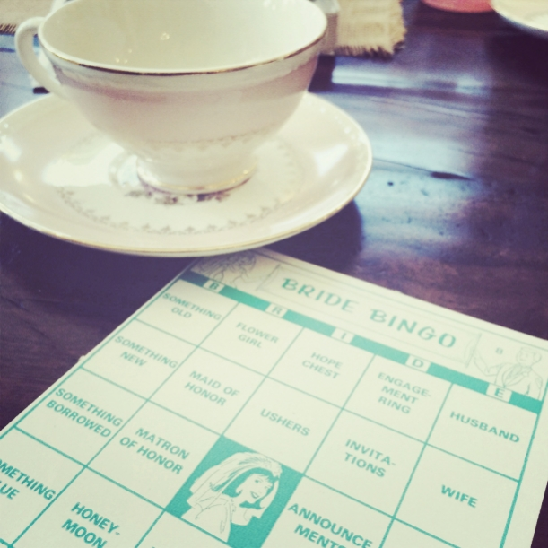 I found this adorable, never before used game of retro Bride Bingo at an antique store!