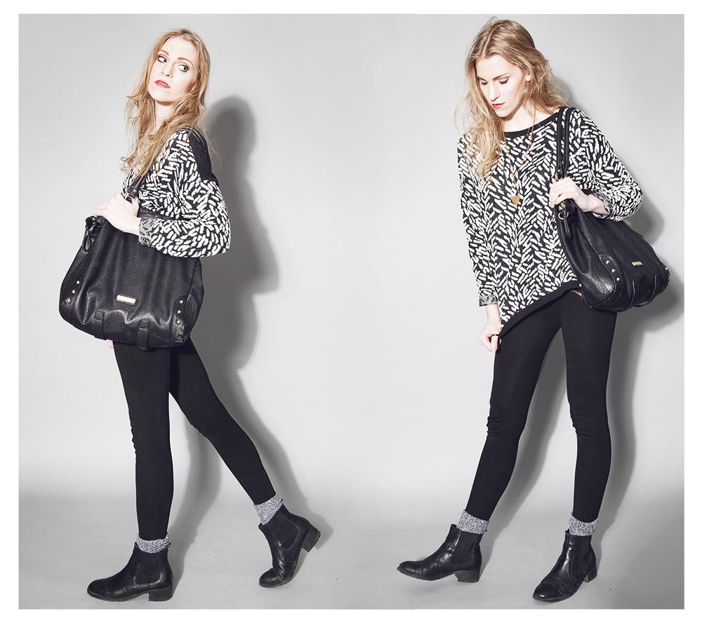 SWEATER -H&M LEGGINGS -ZARA BOOTS -TOMMY HILFIGER NECKLACE-ONESTRANGEBIRD.COM