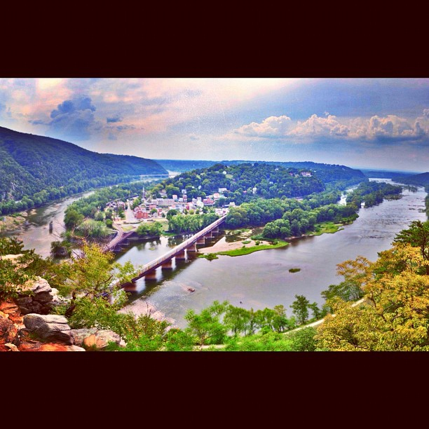 Harpers Ferry from Overlook Trail - edited on iphone (Taken with  Instagram  at Harpers Ferry)