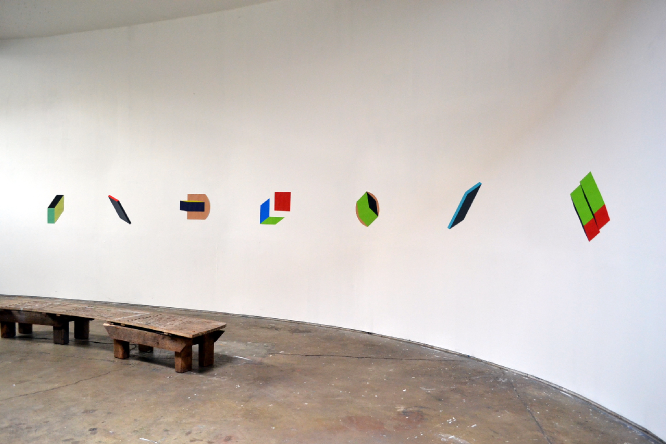 Tempera and gouache paintings on a curved wall; various sizes.    2011