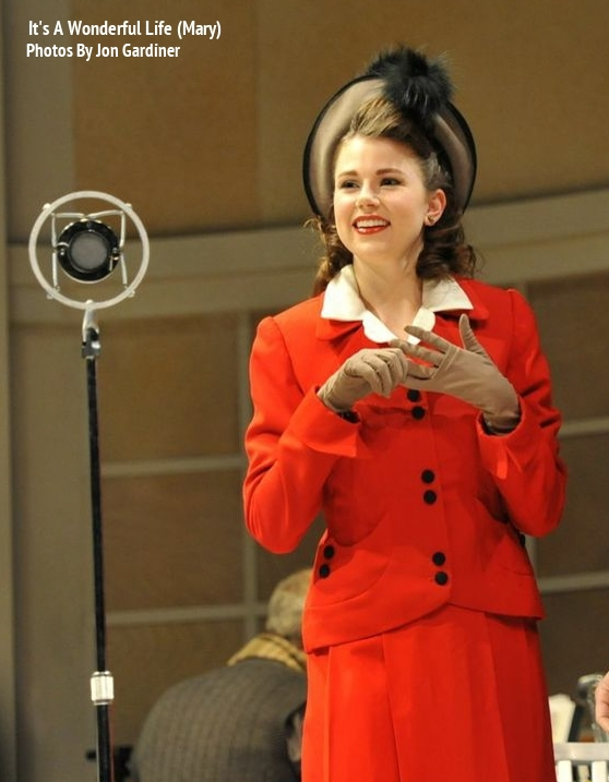 Mary in  It's A Wonderful Life: A Radio Play -  PlayMakers Rep  2012 - Photos by Jon Gardiner