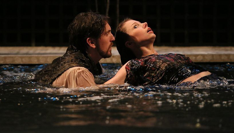 Alcyone and Ceyx (Pat McHugh) in  Metamorphoses  -  PlayMakers Rep  2013 - Photos by Michal Daniel