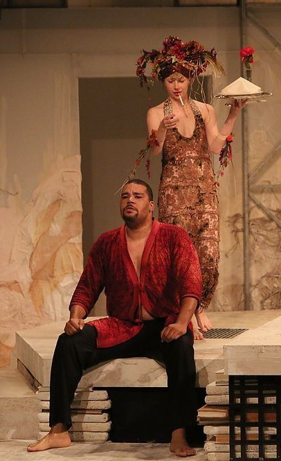 Ceres and Erysichthon (Nilan Johnson) in  Metamorphoses  -  PlayMakers Rep  2013 - Photos by Michal Daniel