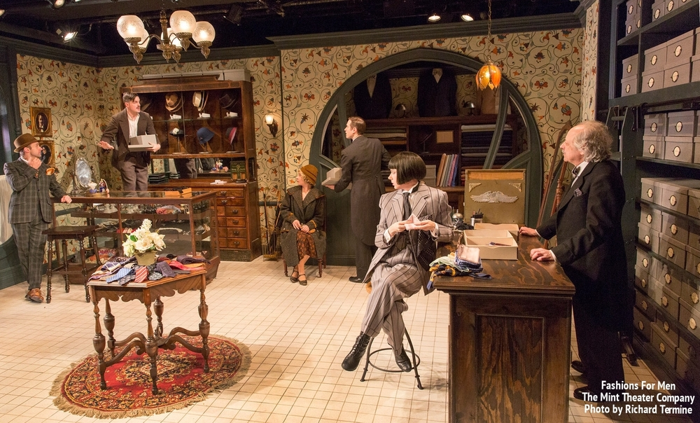 Thorough Young Lady in  Fashions For Men  at the  Mint Theater Company  2015 - Photos by Richard Termine