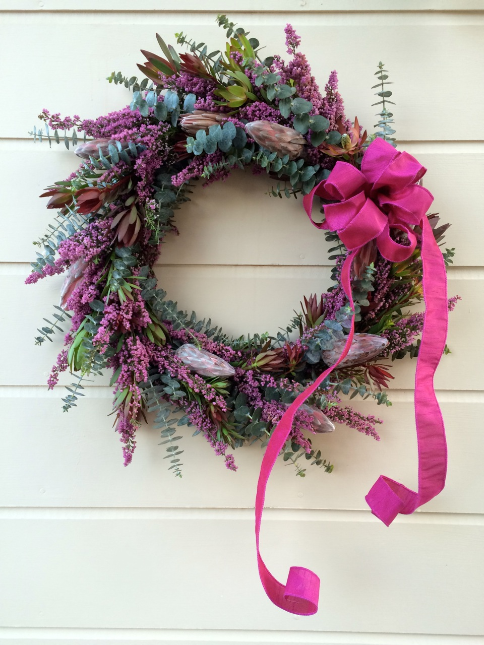Protea/Heather Wreath February 2015
