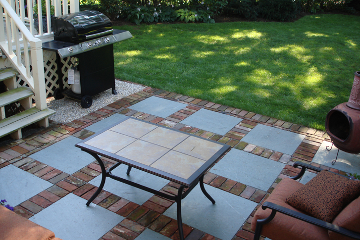 Brick & Slate Patio