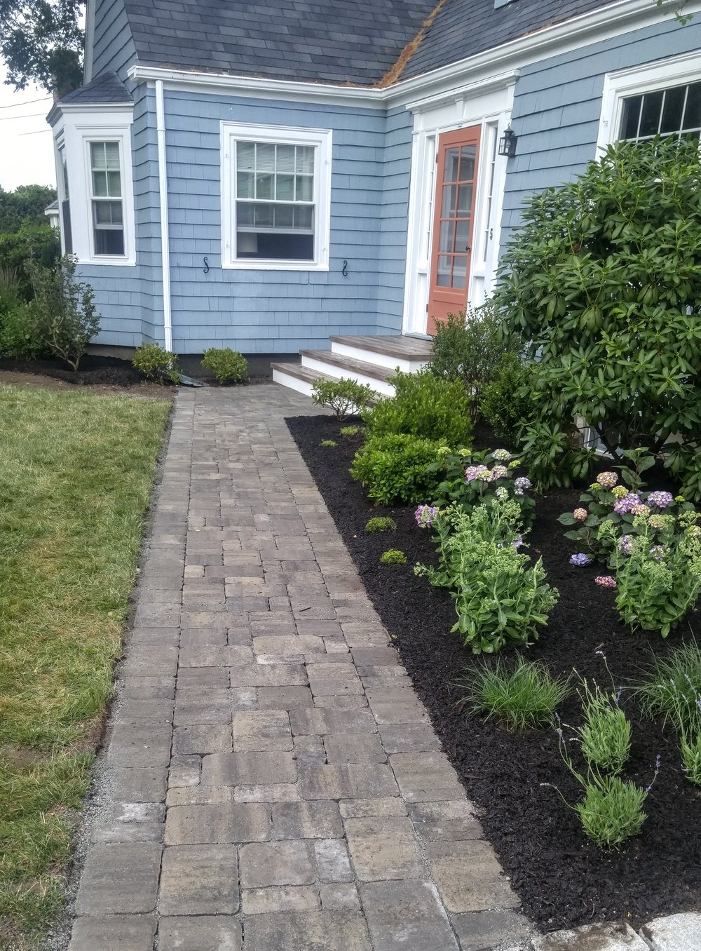 New Walkway and Landscape Design & Installation