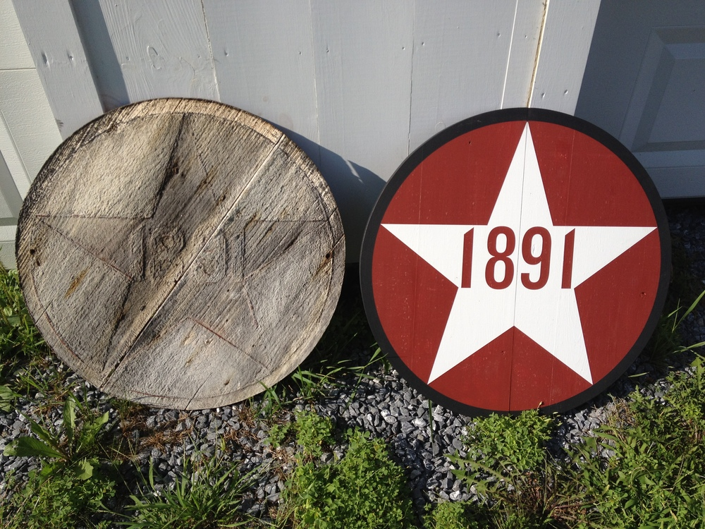 original and replicated 1891 date markers
