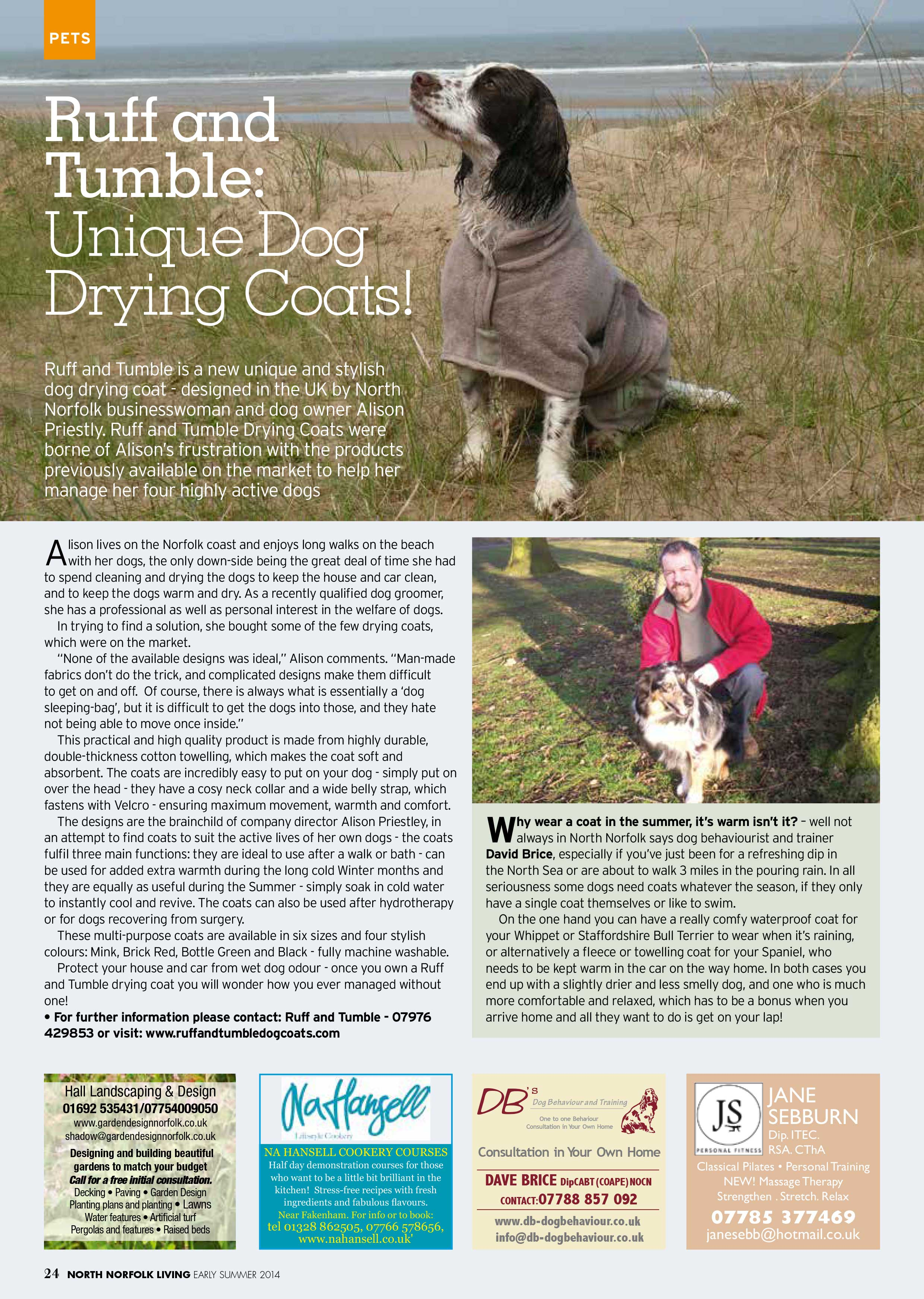 Lovely Article in North Norfolk Living Magazine