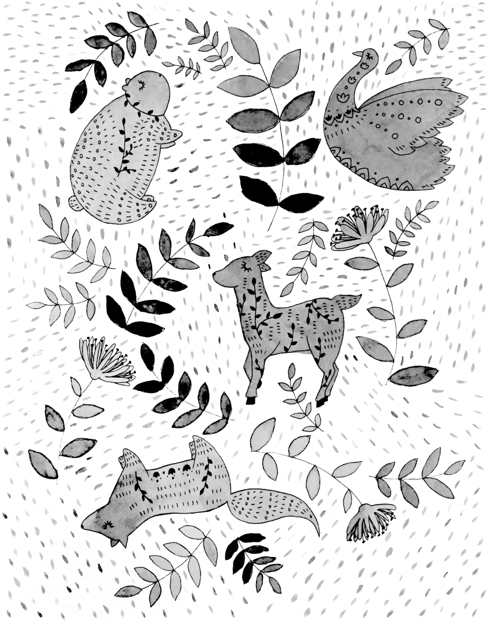woodland creatures pattern.png