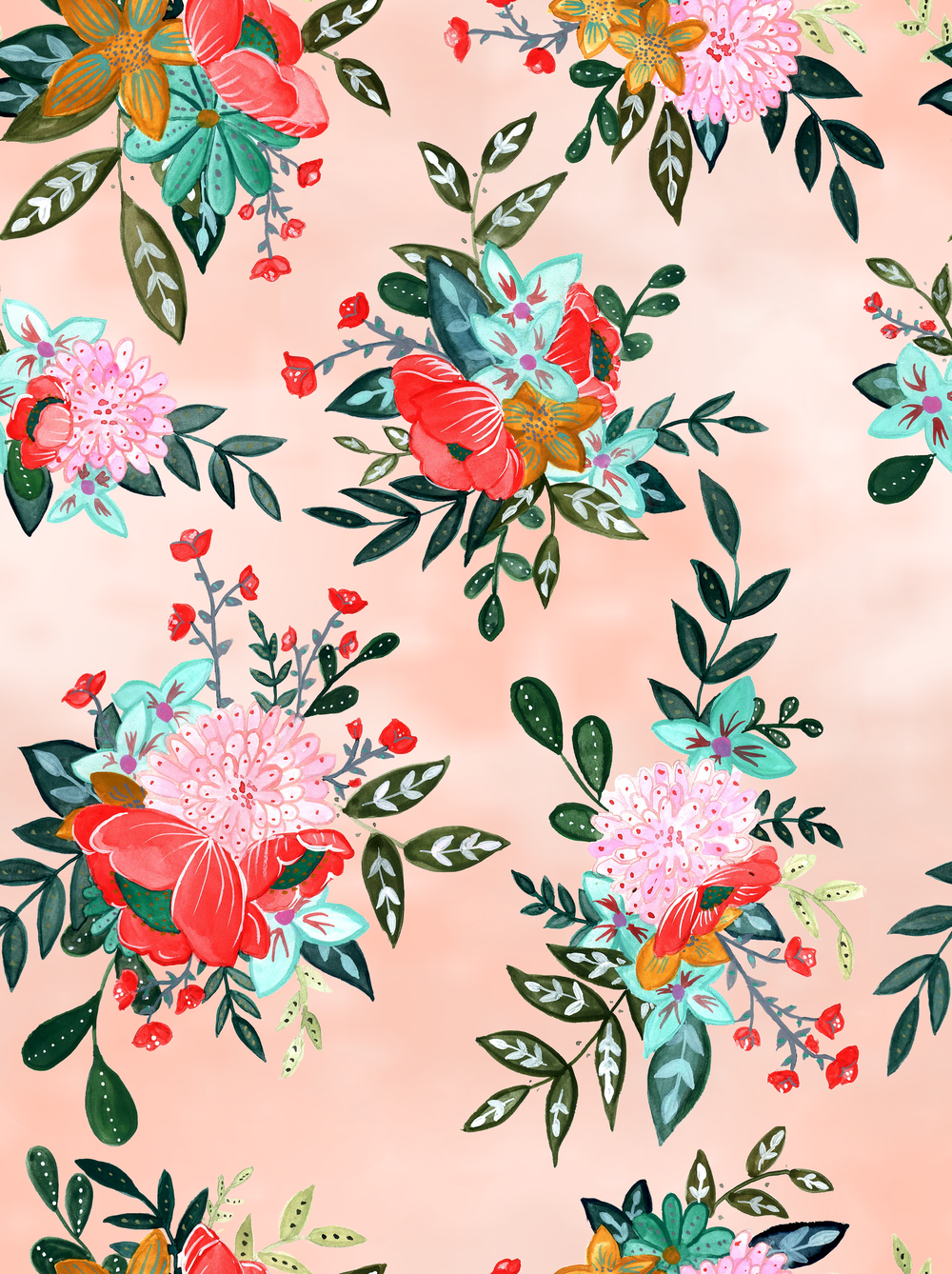 Multicolor Floral Peach Background.png