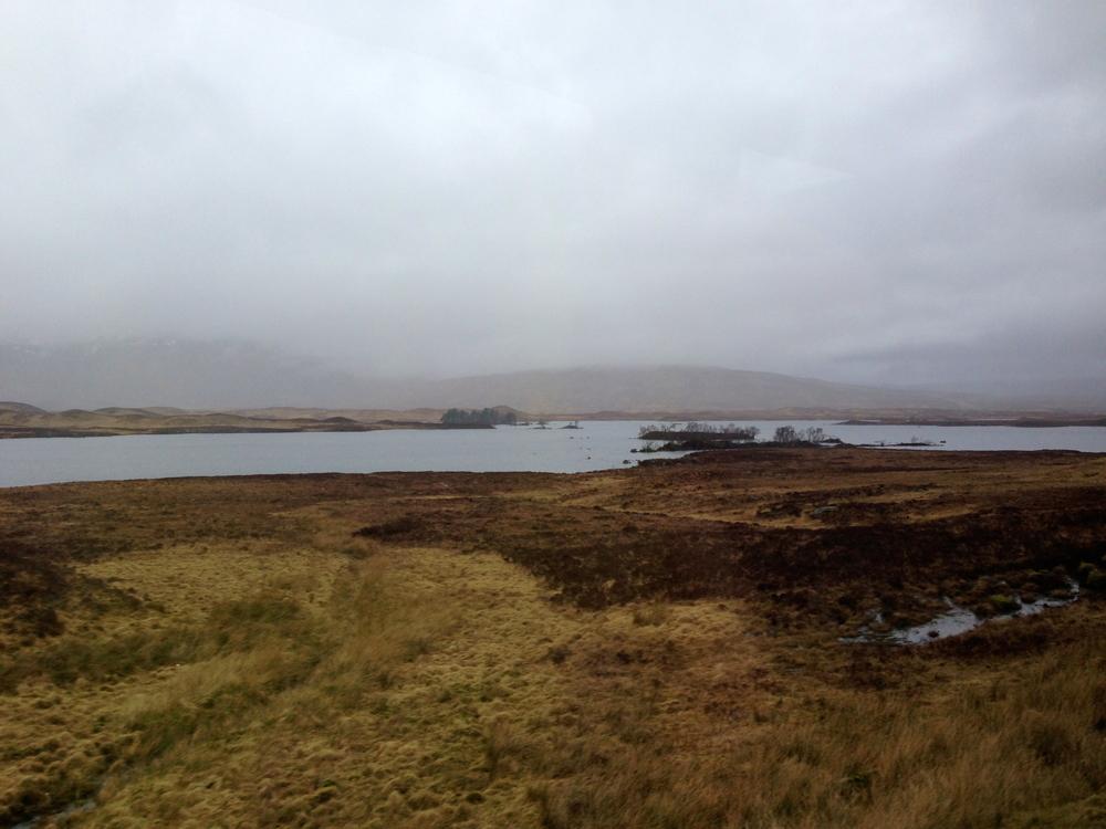 The rather desolate Rannoch Moor