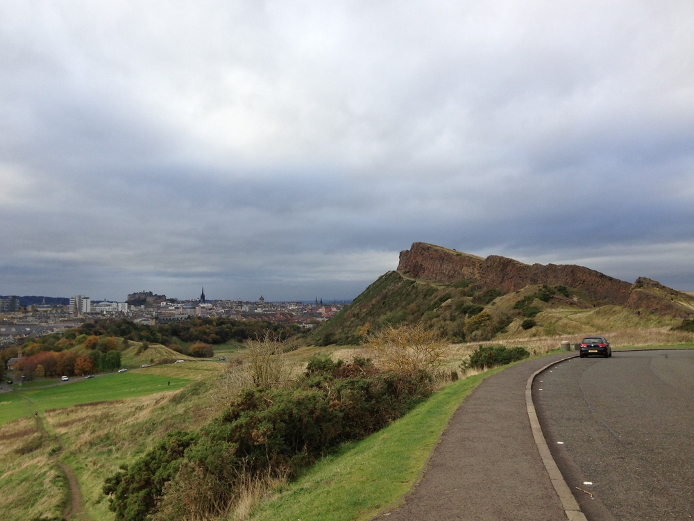 Arthur's seat on a sunny (ish) but cold and windy day