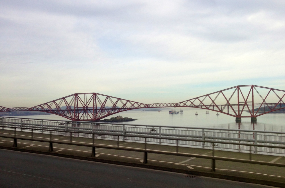 The Forth Bridge yesterday