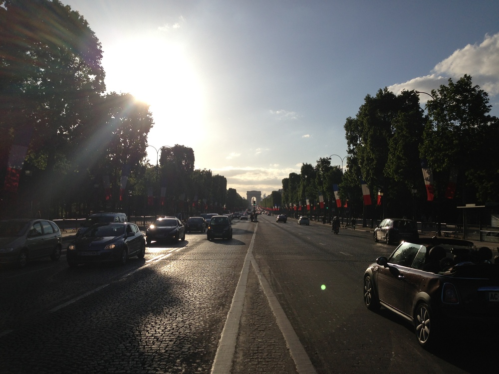 Champs Elysees with the Arc de Triomphe at the end