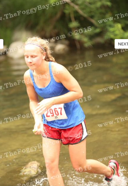 nice running style coming out of the river (not)