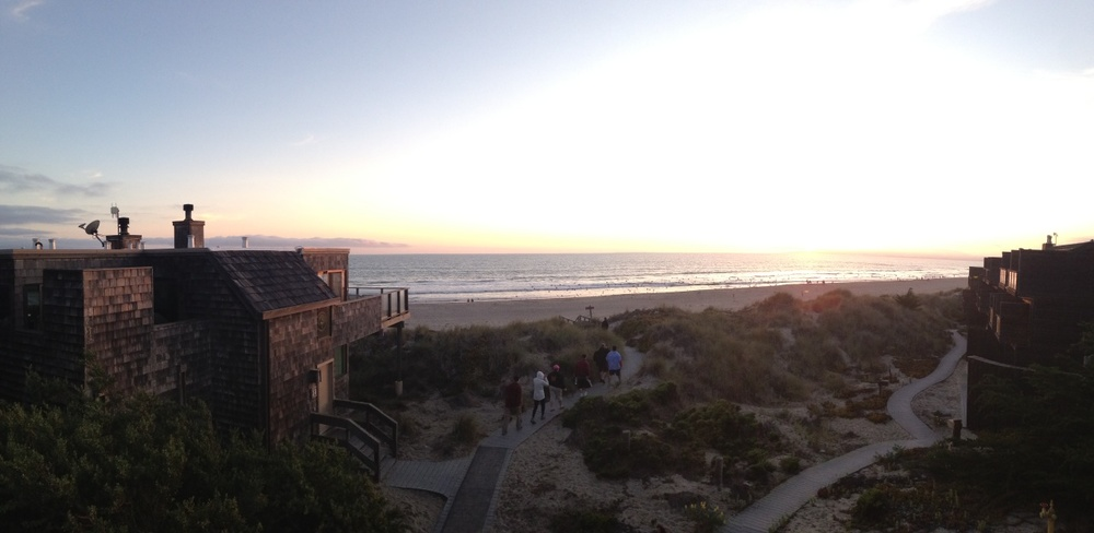 the view from the house balcony