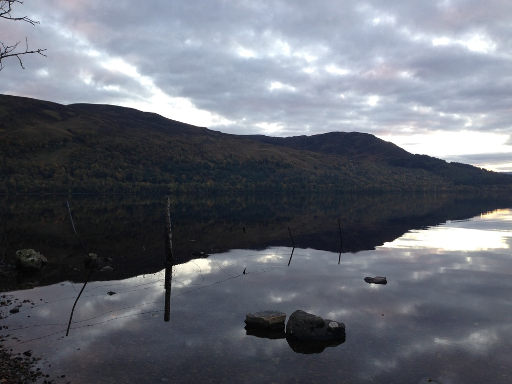 the run was up this side of the loch