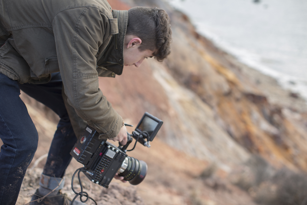 Charles takes in a view of the beach from above
